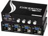 4-Way USB KVM Switch w/ Audio -- 604003