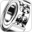 Angular Contact Double-Row Ball Bearings -- 5000