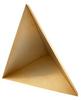 13.5 inch Edge Length, Trihedral Corner Reflector, ¼-20 Threaded Hole Mount, Aluminum Body, Gold Chem Film Finish -- PEWRL0011 -- View Larger Image