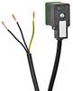SOLENOID CBL 11mm DIN 24V LED 3m (9.84ft) 3-WIRE PIGTAIL PVC -- SC11-LS24-3R
