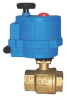 "BRASS 2-WAY NC 1"" NPTF ELECTRIC ACTUATED BALL VALVE-120/60 VAC -- B2CE06-0-6 - Image"