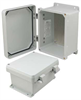 8x6x4 Inch UL® Listed Weatherproof NEMA 4X Enclosure w/Aluminum Mounting Plate, Non-Metallic Hinges -- NBN080604-KIT -Image