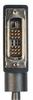 DVI-D Single Link LSZH DVI Cable Male / Male Right Angle, Left, 15.0 ft -- DVIDS-RA3Z-15 -Image