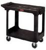 Rubbermaid 4505 HD 2-Shelf Utility Cart Flat Shelf (Small) -- RM-4505BLA