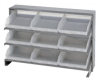 Bins & Systems - Clear-View Bins - Economy Shelf Bins - Sloped Shelving - Bench Racks - QPRHA-109CL - Image