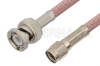 Reverse Polarity SMA Male to BNC Male Cable 36 Inch Length Using RG142 Coax, RoHS -- PE35209LF-36 -Image