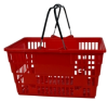 Plastic Shopping Baskets with Handle Grips -- 53903