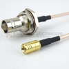 SMB Plug to BNC Female Bulkhead Cable RG-316 Coax in 36 Inch and RoHS -- FMC1638316LF-36 -Image