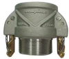 Female Coupler,Male NPT,4 In,Aluminum -- 4YGC3