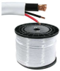 500' RG59 Coaxial Cable w/ 18 Gauge Power Wire, White -- 202609WT