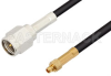 SMA Male to MMCX Plug Cable 24 Inch Length Using RG174 Coax -- PE34069-24 -Image