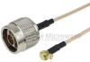 N Male to RA MCX Plug Cable RG-316 Coax in 24 Inch -- FMC0117315-24 -Image