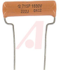 Capacitor; 0.0022 uF; 1600 WVDC; + 5%; Hockey Crimped; 0.1; 400000 Megohms -- 70079294 - Image