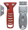 Glass Scraper,Ergonomic Handle,Silver -- 9E368