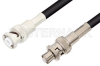 MHV Male to SHV Plug Cable 24 Inch Length Using 93 Ohm RG62 Coax -- PE3451-24 -Image