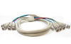 10ft 4 BNC Male to 4 BNC Male Cable -- RB14-10 - Image
