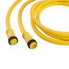 Mini-Link Cable Assembly, PVC, Male/Female, 10 pole, 12', 16 AWG -- 110G0120AP -- View Larger Image