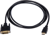 DVI-D Male to HDMI Male Video Adapter Cable, 10 foot Length -- CA590