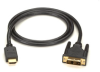 HDMI to DVI-D Cable, M/M, PVC, 3-m (10-ft.) -- EVHDMI02T-003M