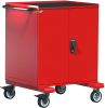 Heavy-Duty Mobile Cabinet, with Partitions -- R5BEG-3801 -Image