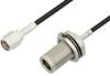 SMA Male to N Female Bulkhead Cable 18 Inch Length Using RG174 Coax, RoHS -- PE34171LF-18 -Image