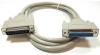 100ft DB25 M/F Extension Straight Thru Molded Cable -- 10D3-012HD - Image