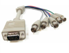 1ft HD15 VGA Male to 5 BNC Female Cable -- RB20-01 - Image