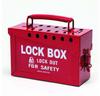 Brady Red Steel Combined Lock Storage & Group Lock Box 65699 - 9 in Width - 6 in Height - 40 Padlock Capacity - 754476-65699 -- 754476-65699 - Image