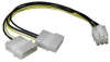 PCI Express 6 Pin to 5.25 Male x2 -- 11W3-20308