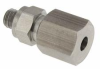 """1/4"""" OD Tubing Compression Fitting, for teflon tubing -- MCB-T Series -- View Larger Image"""