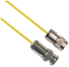 TRS sub-min Plug 3-Slot Male to TRB Plug 3-Slot Male 50 ohm 0.156 O.D. Yellow jacket 48-inch Triax Cable Assembly -- MP-2611-48 -Image