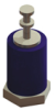 Molded Diallyl Phthalate Insulated Terminal-Double Threaded Turret -- 11512 - Image