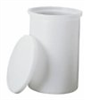 Cylidrical Tank with Cover, HDPE, 10 Gal. -- EW-06317-60
