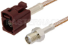 SMA Female to Bordeaux FAKRA Jack Cable 36 Inch Length Using RG316 Coax -- PE39351D-36 -Image