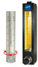 Flowmeter, In-line, With Brass Fittings; 18 SCFM O2 -- EW-32605-03