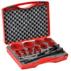 Hole Saw Kit: bi-metal HSS, 5/8 to 3-1/4 inch diameter, 19 pc -- 106318 - Image