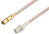 SMA Female to SSMC Plug Cable 6 Inch Length Using RG316 Coax -- PE3C4409-6 -Image