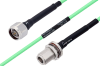 Temperature Conditioned N Male to N Female Bulkhead Low Loss Cable 60 Inch Length Using PE-P142LL Coax -- PE3M0175-60 -Image