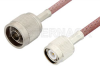 N Male to TNC Male Cable 36 Inch Length Using RG142 Coax -- PE3652-36 -Image