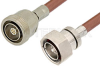 7/16 DIN Male to 7/16 DIN Female Cable 12 Inch Length Using RG393 Coax -- PE37450-12 - Image