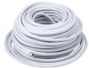 Coax Cable,RG-6,F-Type Conn,WH,100 ft. -- 5RGR0