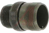 connector comp,shell only,metal circular,cable recept,solid bkshl,size 16s,olive -- 70141280