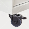 Castor D100 swivel with double-brake -- 0.0.602.40 - Image