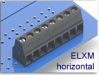 Fixed Terminal Block -- ELXM Horizontal SMT Compatible Series -- View Larger Image