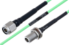 Temperature Conditioned TNC Male to N Female Bulkhead Low Loss Cable 18 Inch Length Using PE-P160LL Coax -- PE3M0208-18 -Image