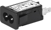 IEC Appliance Inlet C8 with Filter, Front Side Mounting -- 5008 -Image