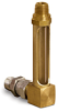 Vented Specially Configured Brass Gage -- B1357-8B4