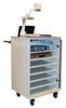 8 unit Laptop Charging & Presentation Cart - Gray/Gray Granite -- L-P8-GGG