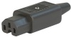 IEC Connector C15 for hot conditions 120°C, Rewireable, Straight