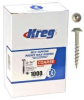 KREG Pocket Screws - 1-1/4 In., #8 Coarse, Washer-Head, 1000 -- Model# SML-C125 - 1000